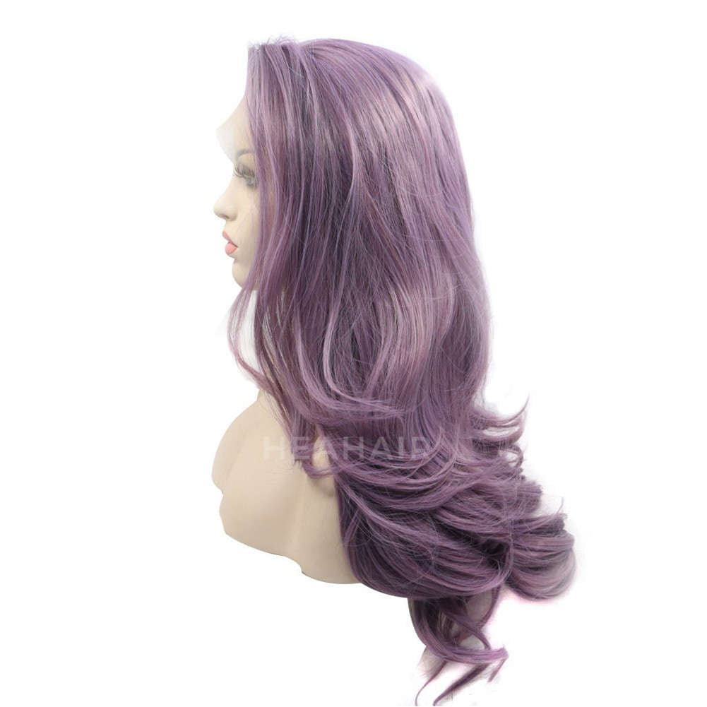 Purple Synthetic Lace Front Wig HS0035