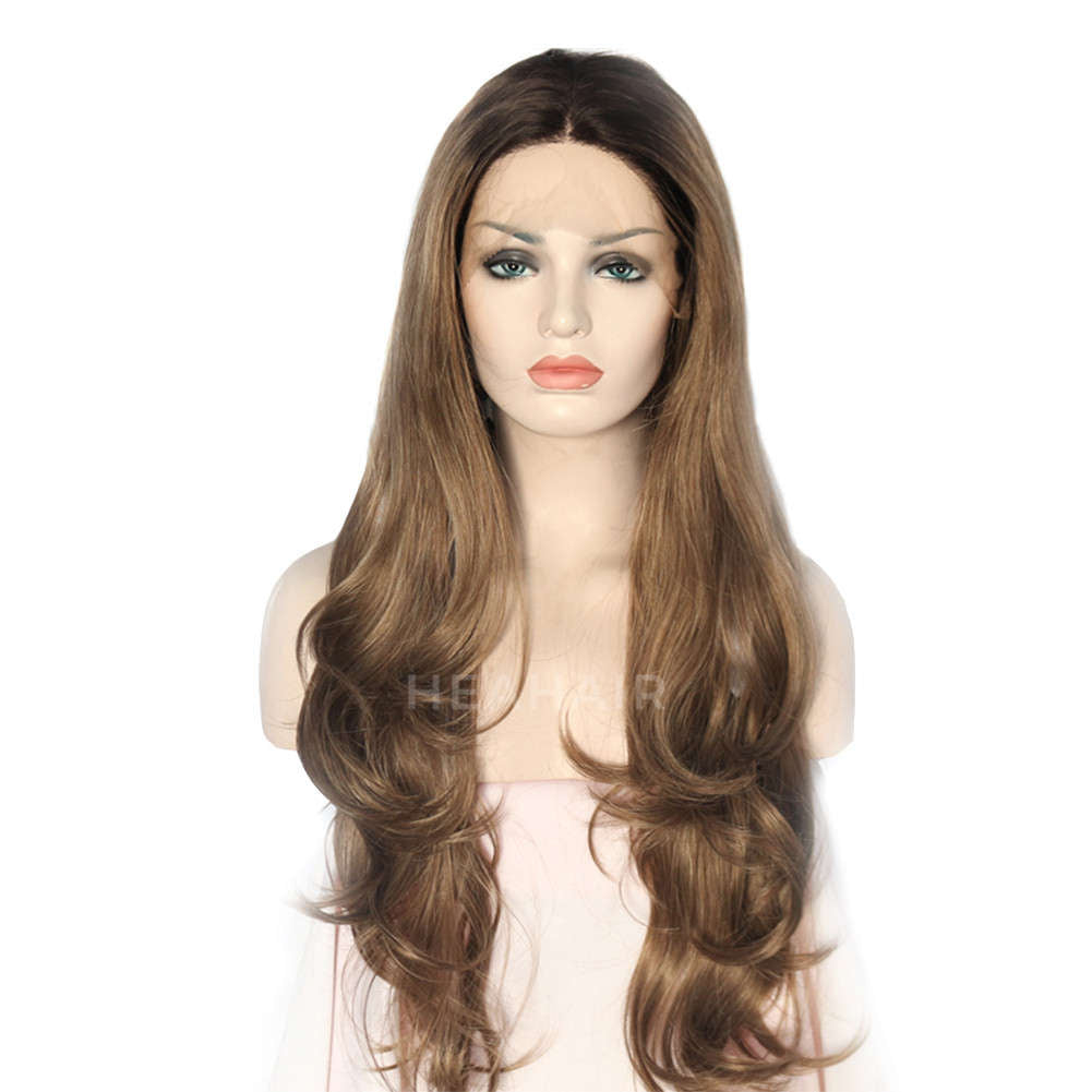 Brown Synthetic Lace Front Wig HS0042