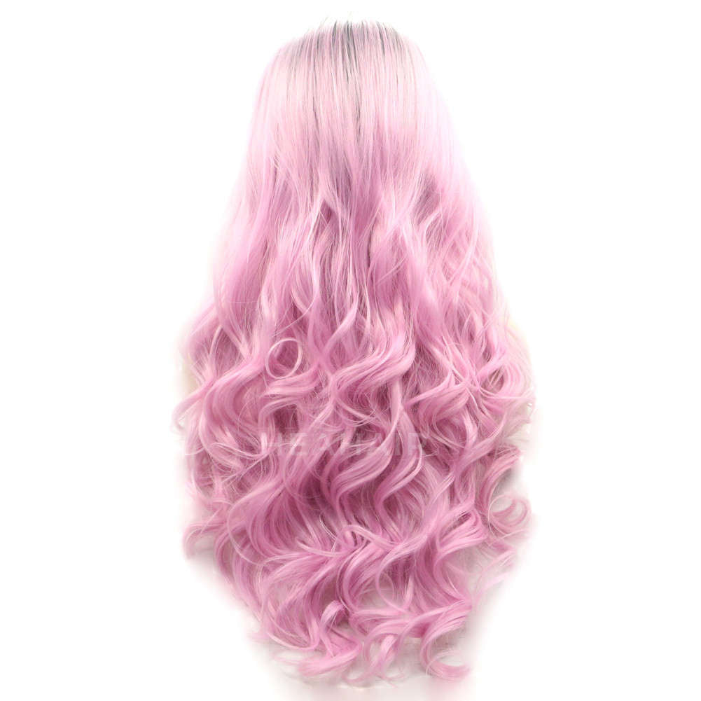 Ombre Pink Synthetic Lace Front Wig HS2011