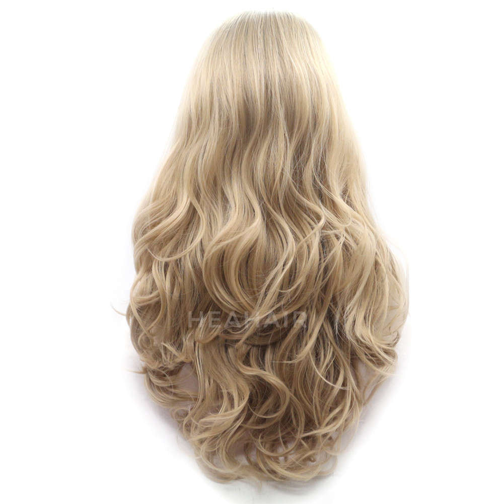 Ombre Blonde Synthetic Lace Front Wig HS2019