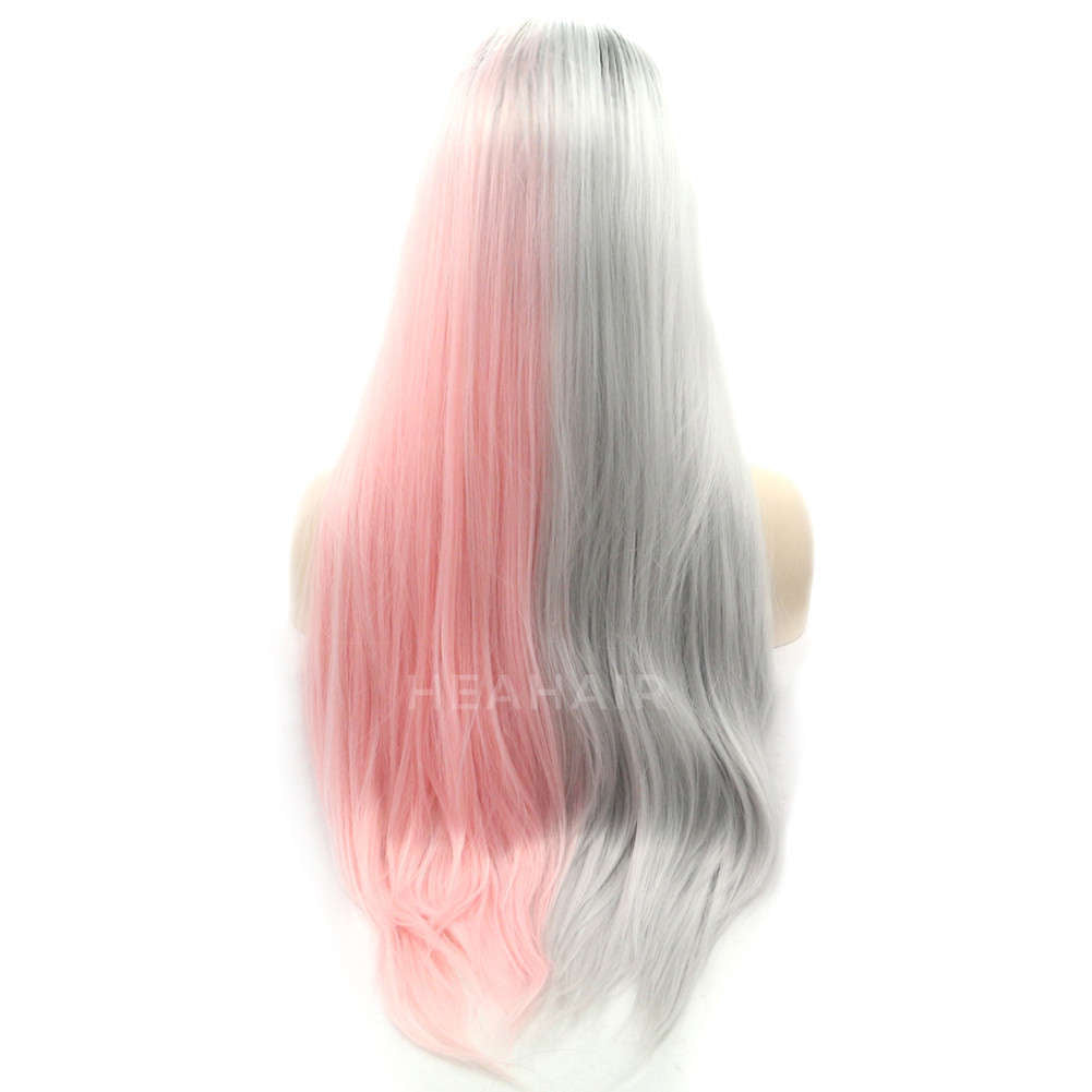 Ombre Color Synthetic Lace Front Wig HS2025