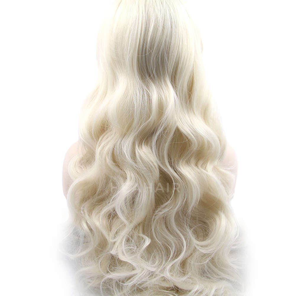 Platinum Blonde Synthetic Lace Front Wig HS2030