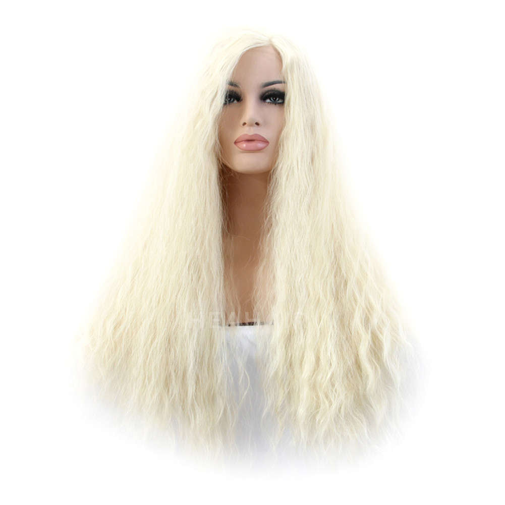 Platinum Blonde Synthetic Lace Front Wig HS2039