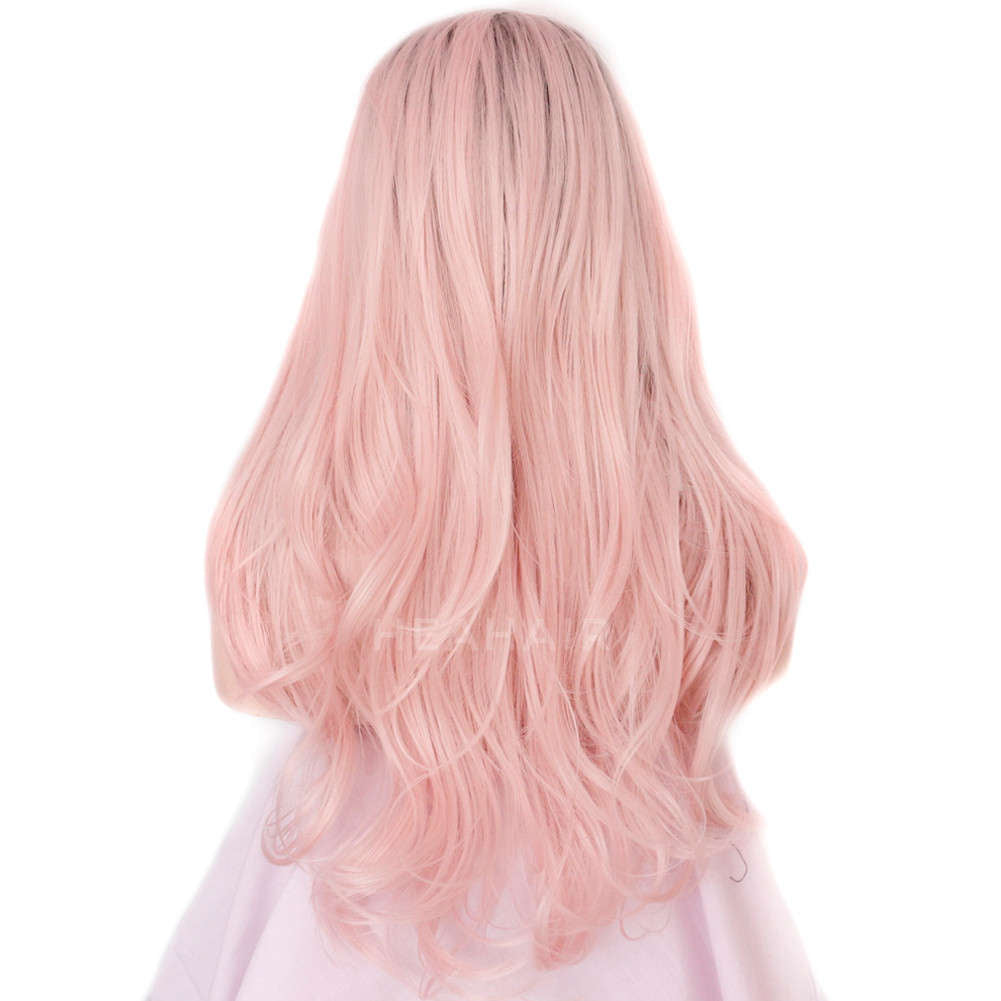 Ombre Pink Synthetic Lace Front Wig HS3006