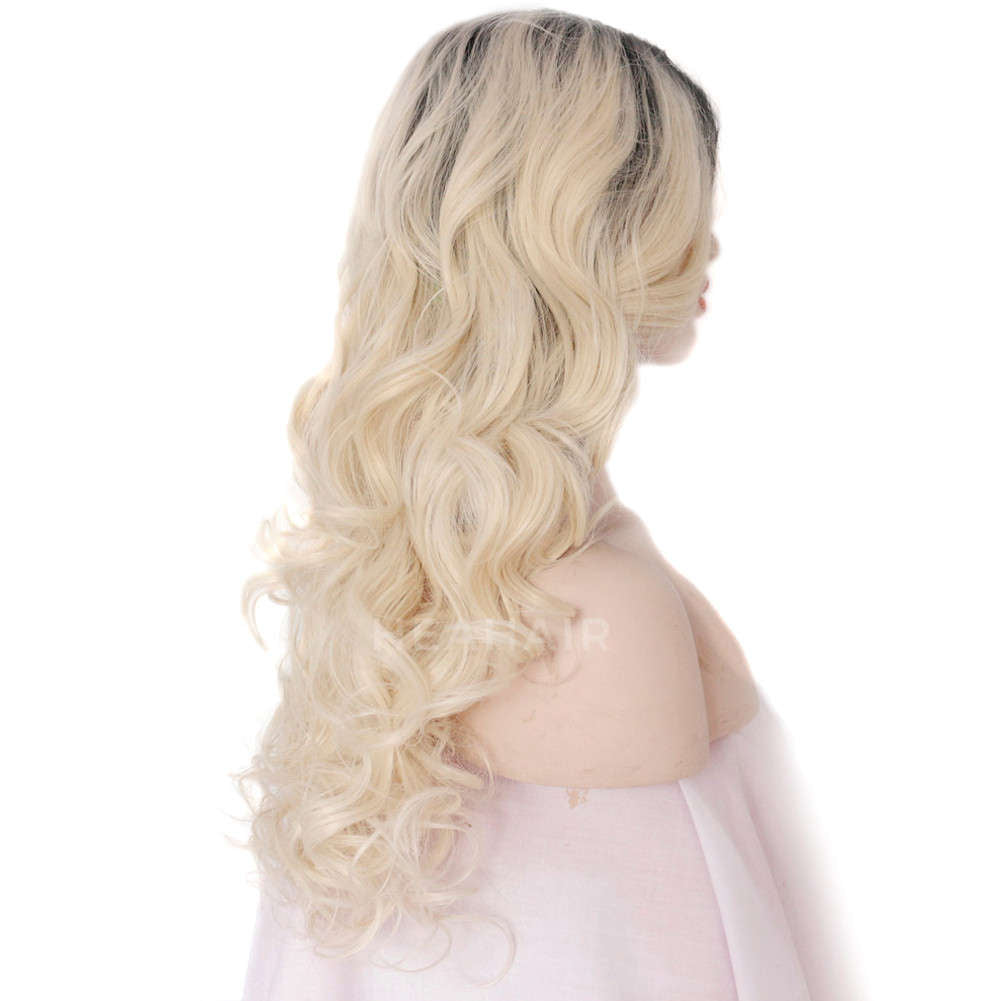 Ombre Blonde Synthetic Lace Front Wig HS3007