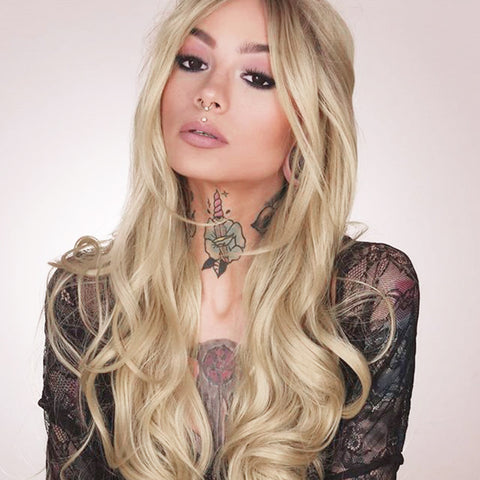 Ombre Blonde Synthetic Lace Front Wig HS3009