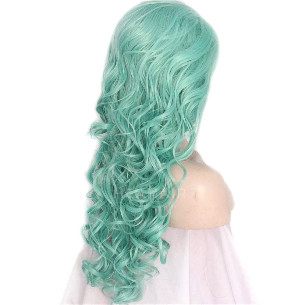 Green Synthetic Lace Front Wig HS3019