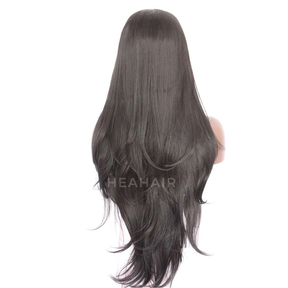 Dark Brown Synthetic Lace Front Wig HS3029