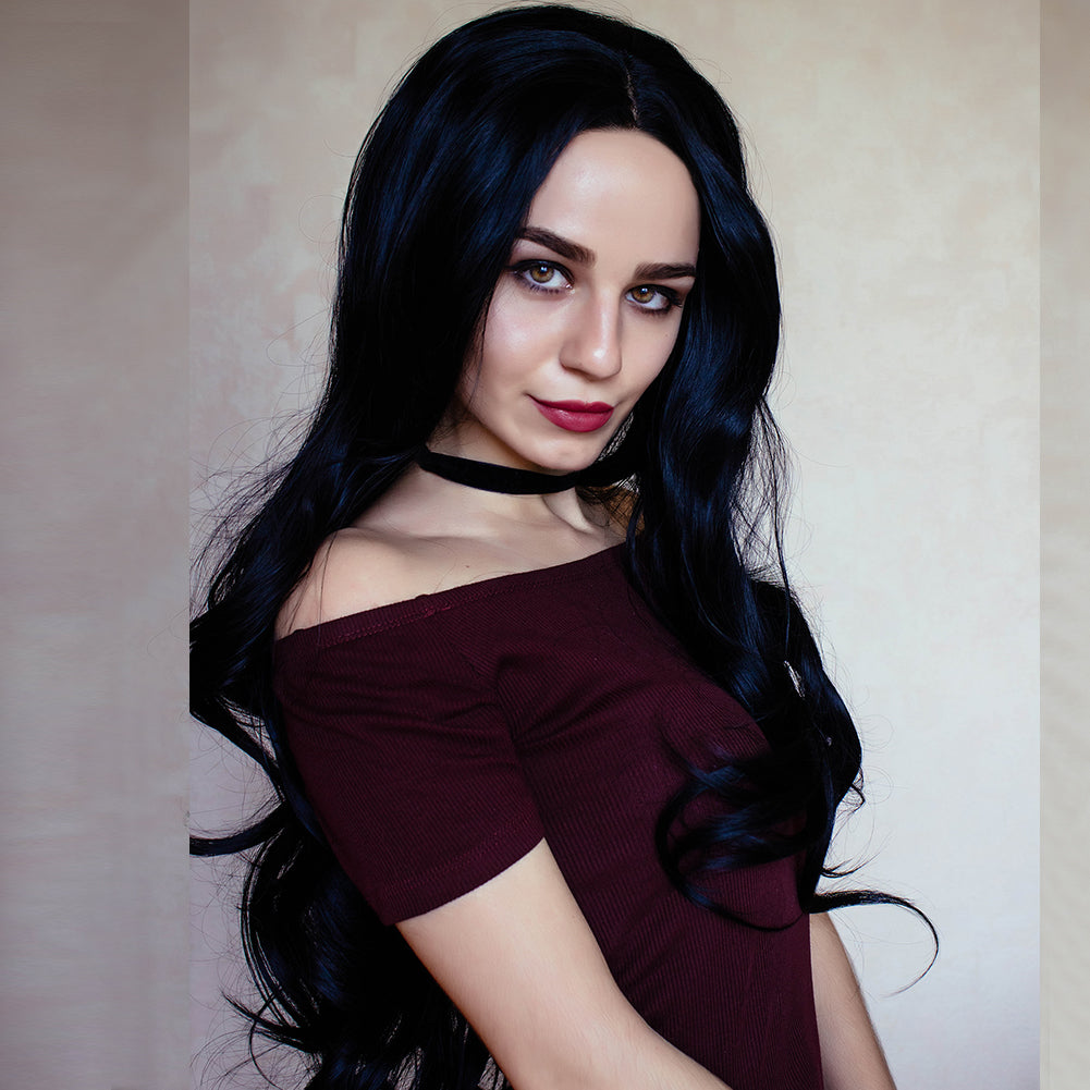 Black Synthetic Lace Front Wig HS3034