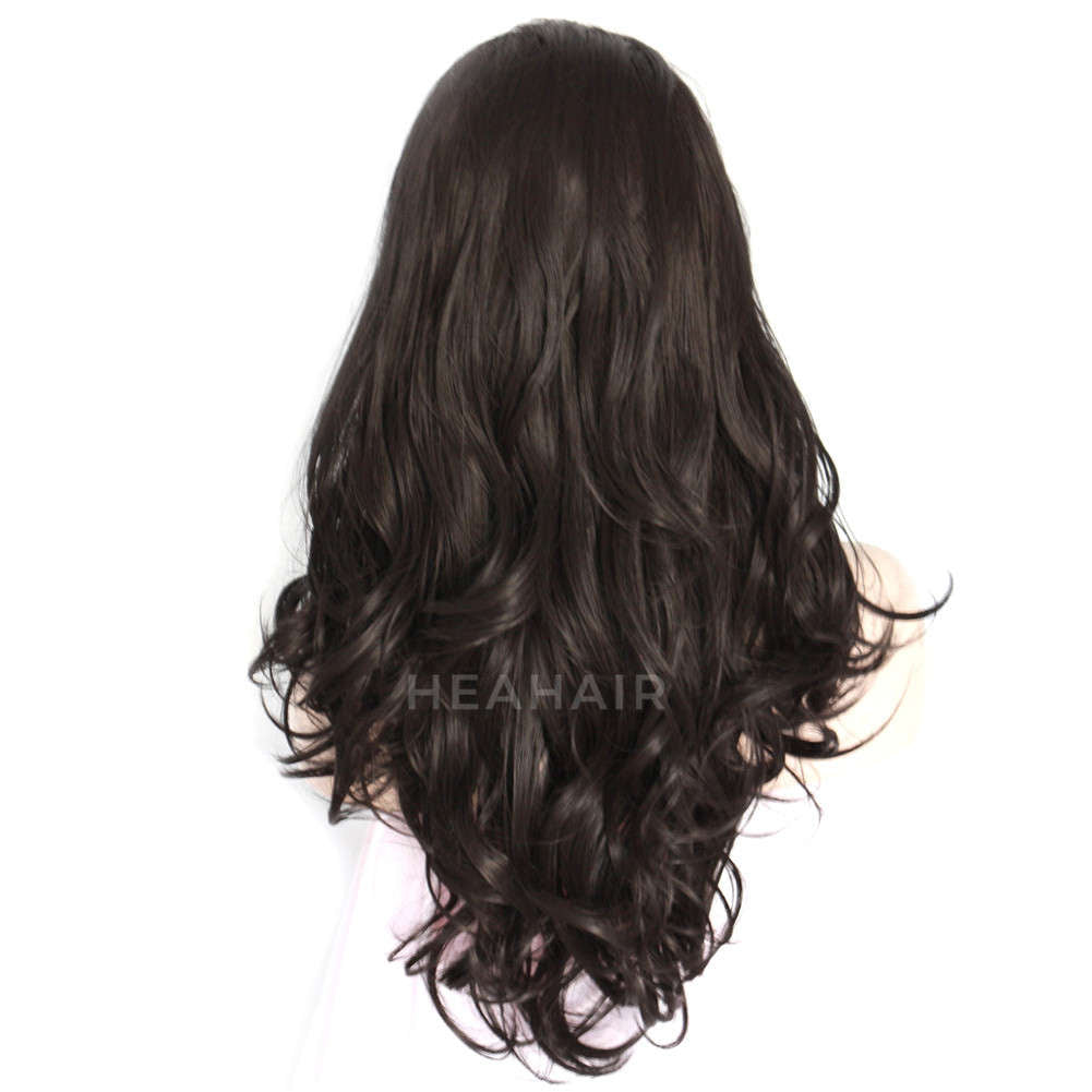 Black Synthetic Lace Front Wig HS3035