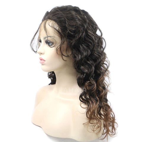 Ombre Brown Synthetic Lace Front Wig HS4003