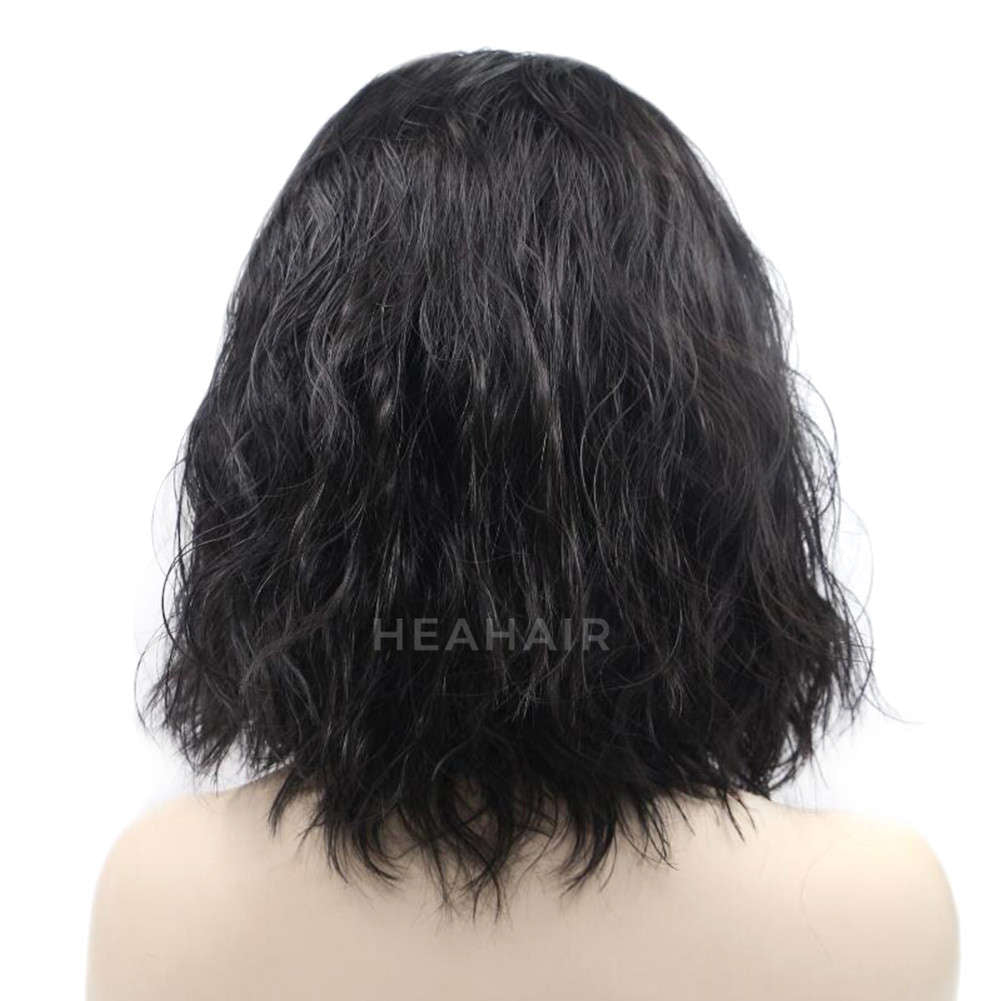 Black Bob Synthetic Lace Front Wig HS4004