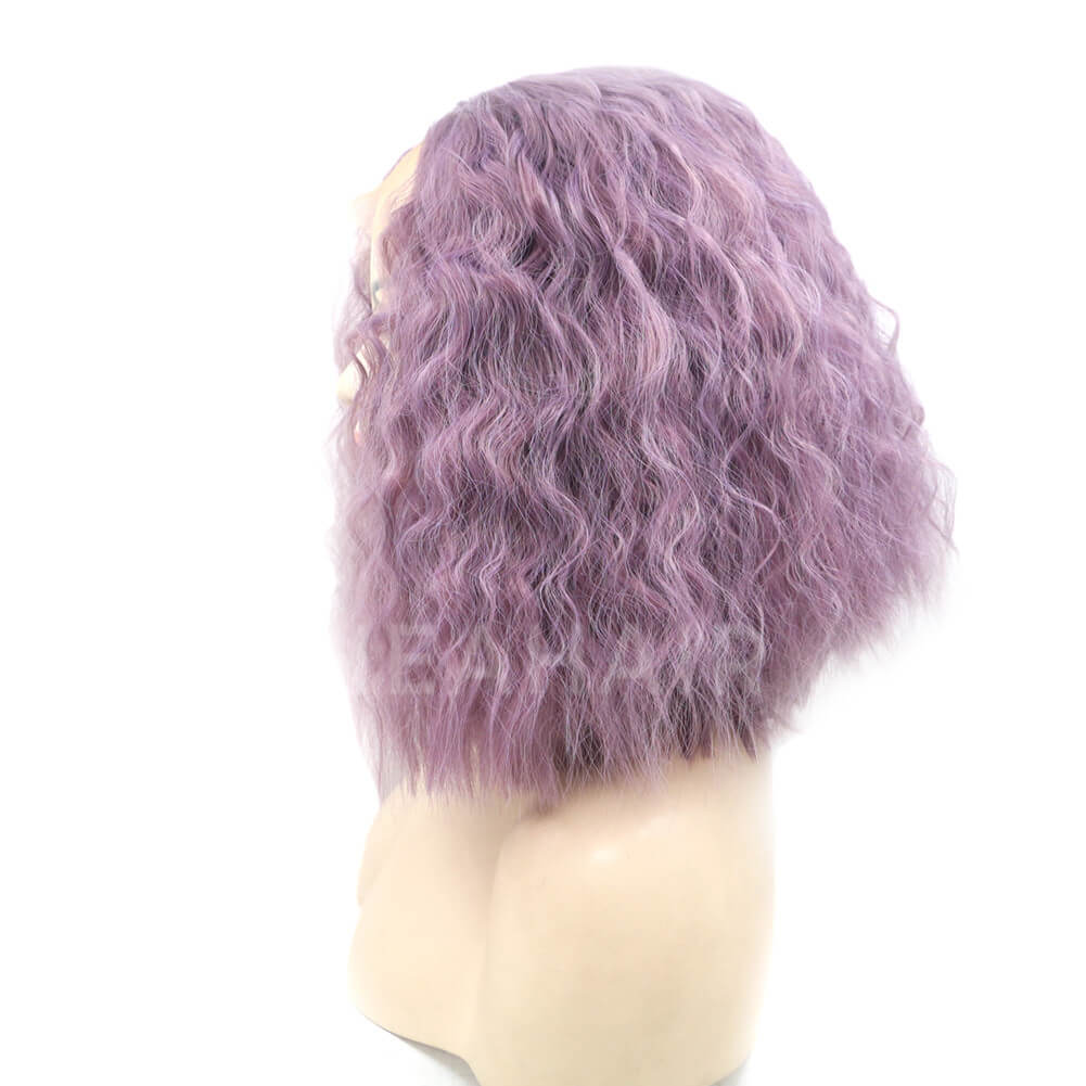 Purple Bob Synthetic Lace Front Wig HS4007