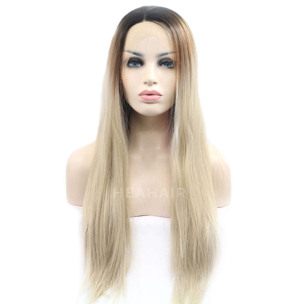 Ombre Blonde Synthetic Lace Front Wig HS4014