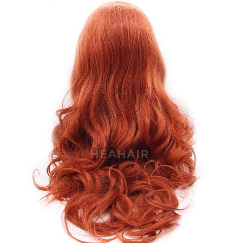 Copper Red Synthetic Lace Front Wig HS4018