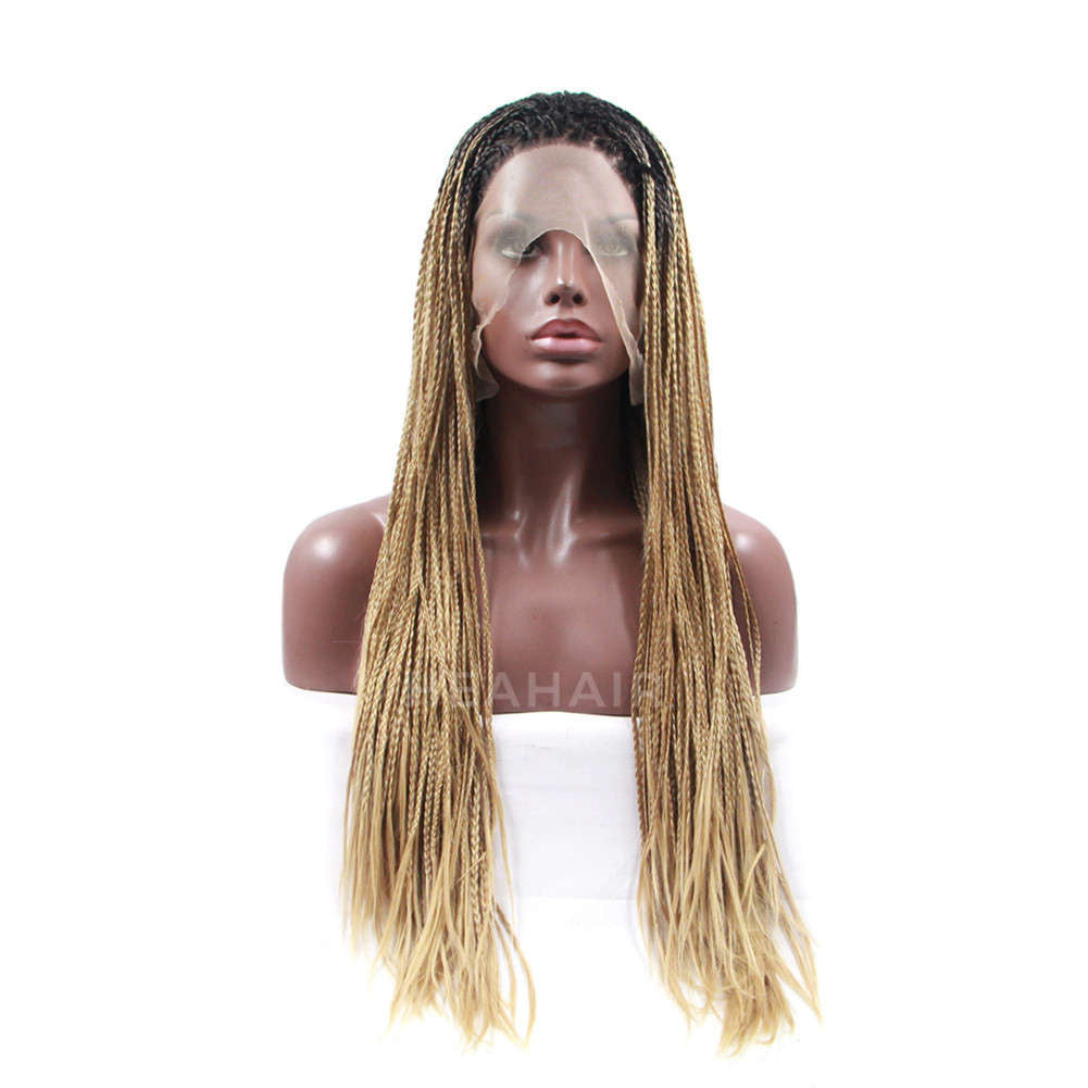 Ombre Blonde Synthetic Braided Lace Front Wig HS5012