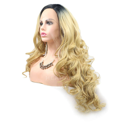 Ombre Blonde Synthetic Lace Front Wig HS6001