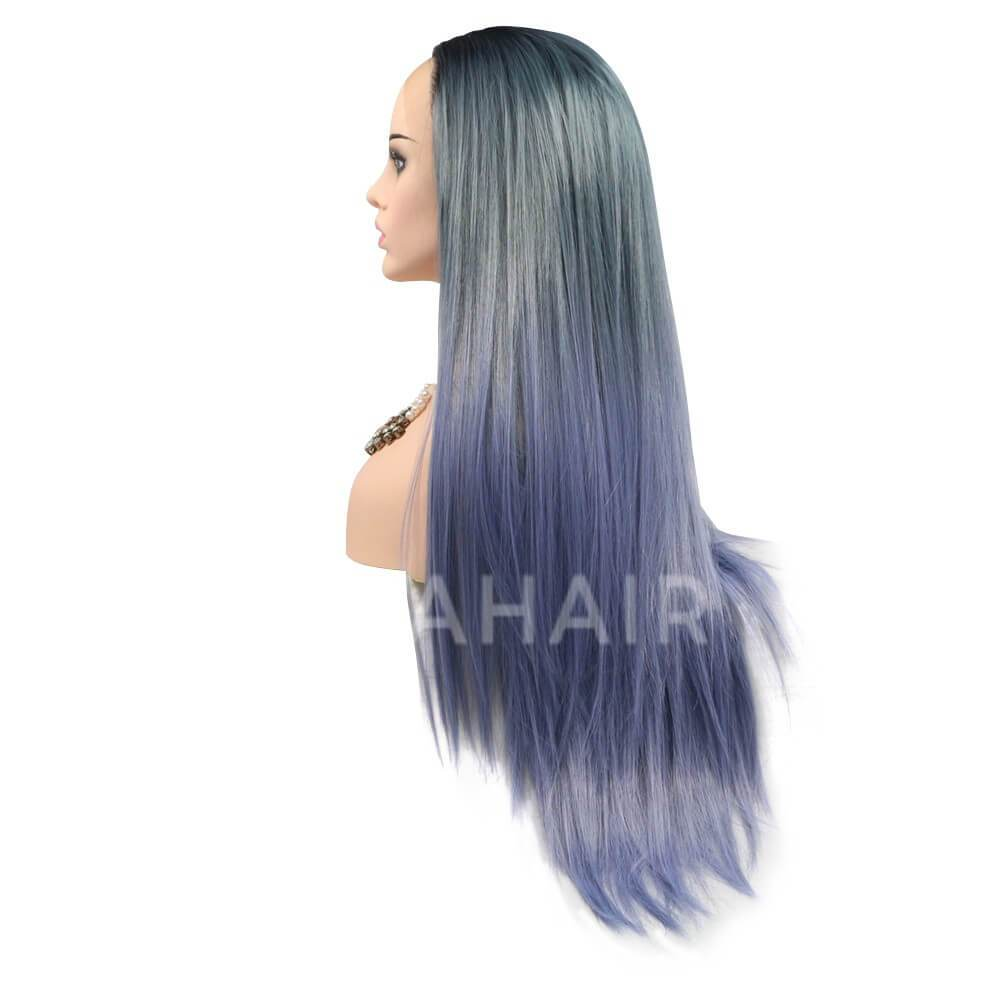 Ombre Purple Synthetic Lace Front Wig HS6009
