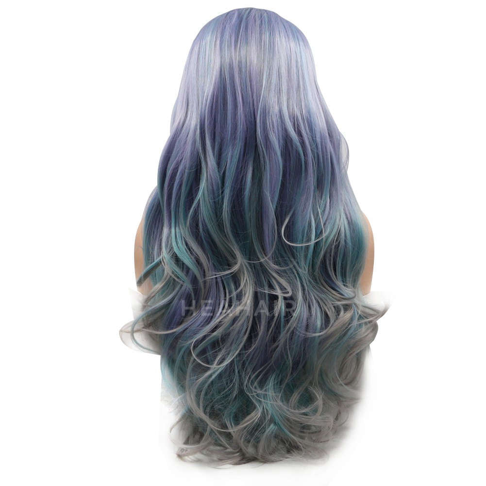 Ombre Color Synthetic Lace Front Wig HS6010