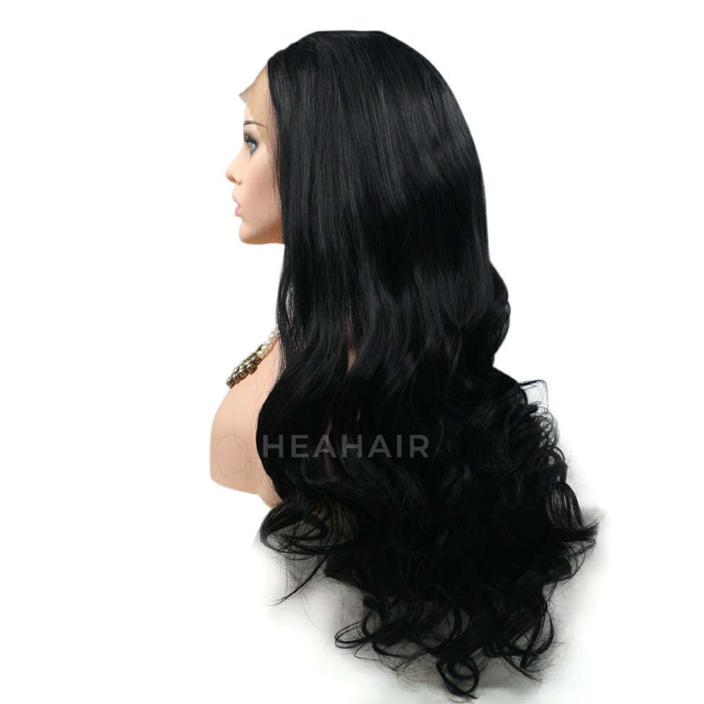 Black Synthetic Lace Front Wig HS6013