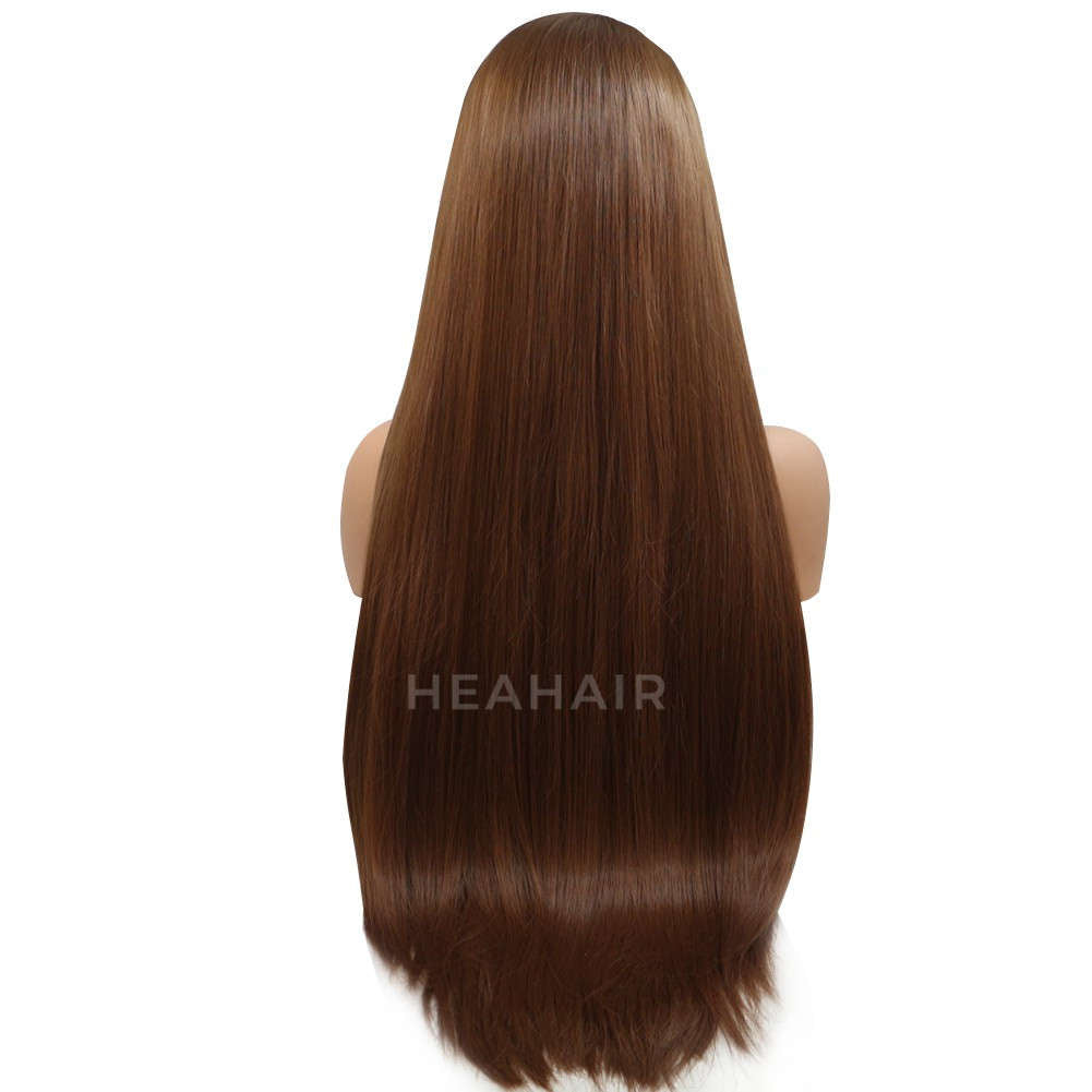 Brown Synthetic Lace Front Wig HS6014