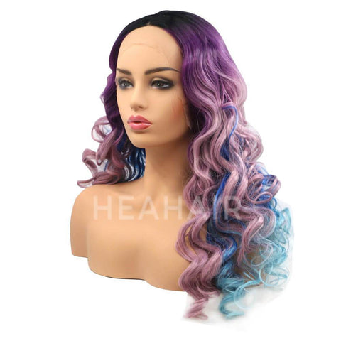 Rainbow Color Synthetic Lace Front Wig HS6015