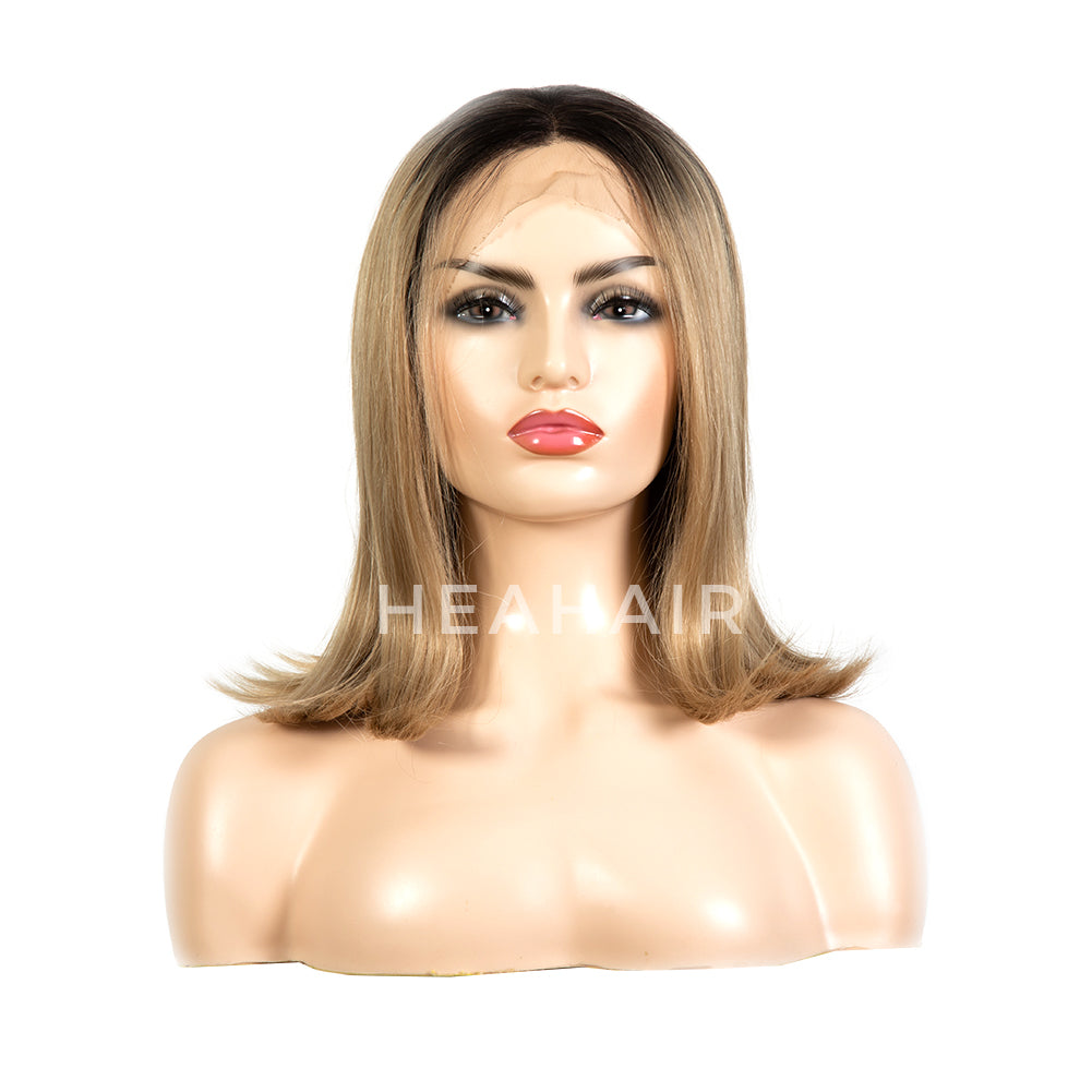Ombre Blonde Bob Synthetic Lace Front Wig HS6016