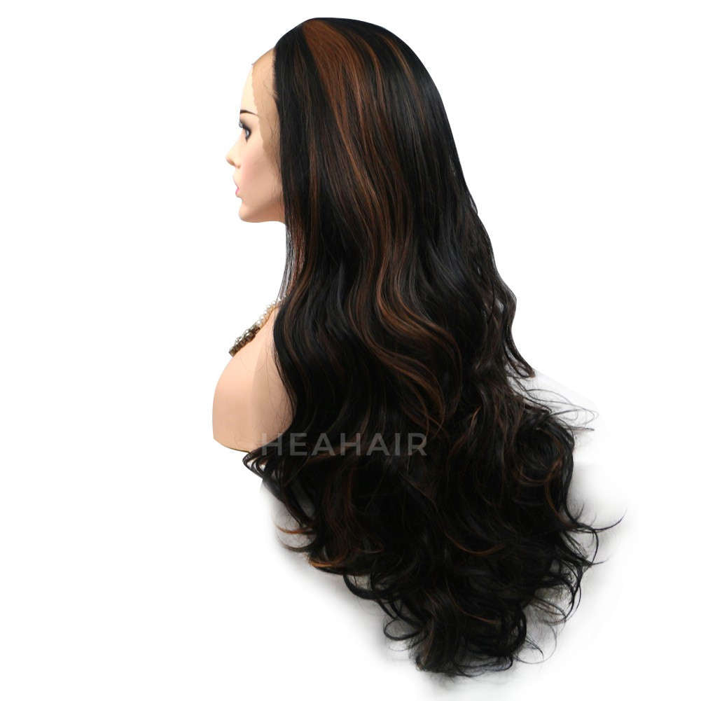 Ombre Brown Synthetic Lace Front Wig HS6017
