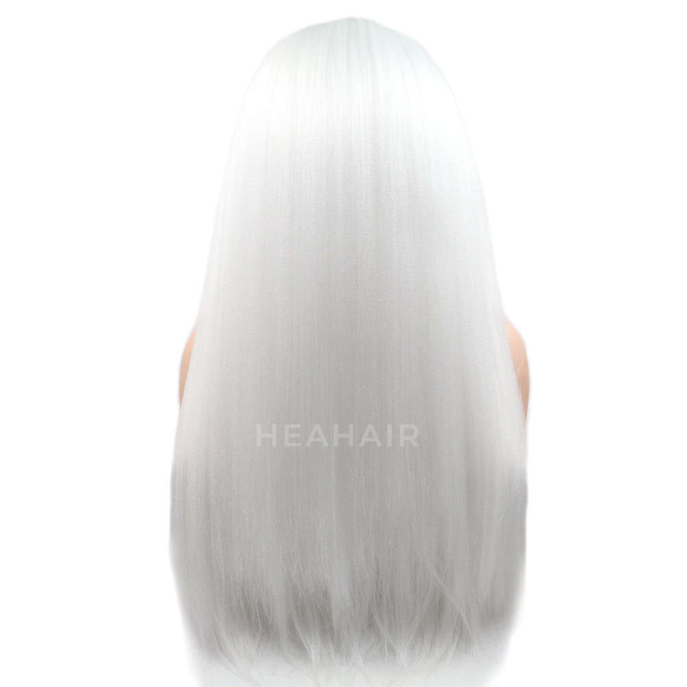 White Yaki Synthetic Lace Front Wig HS6020
