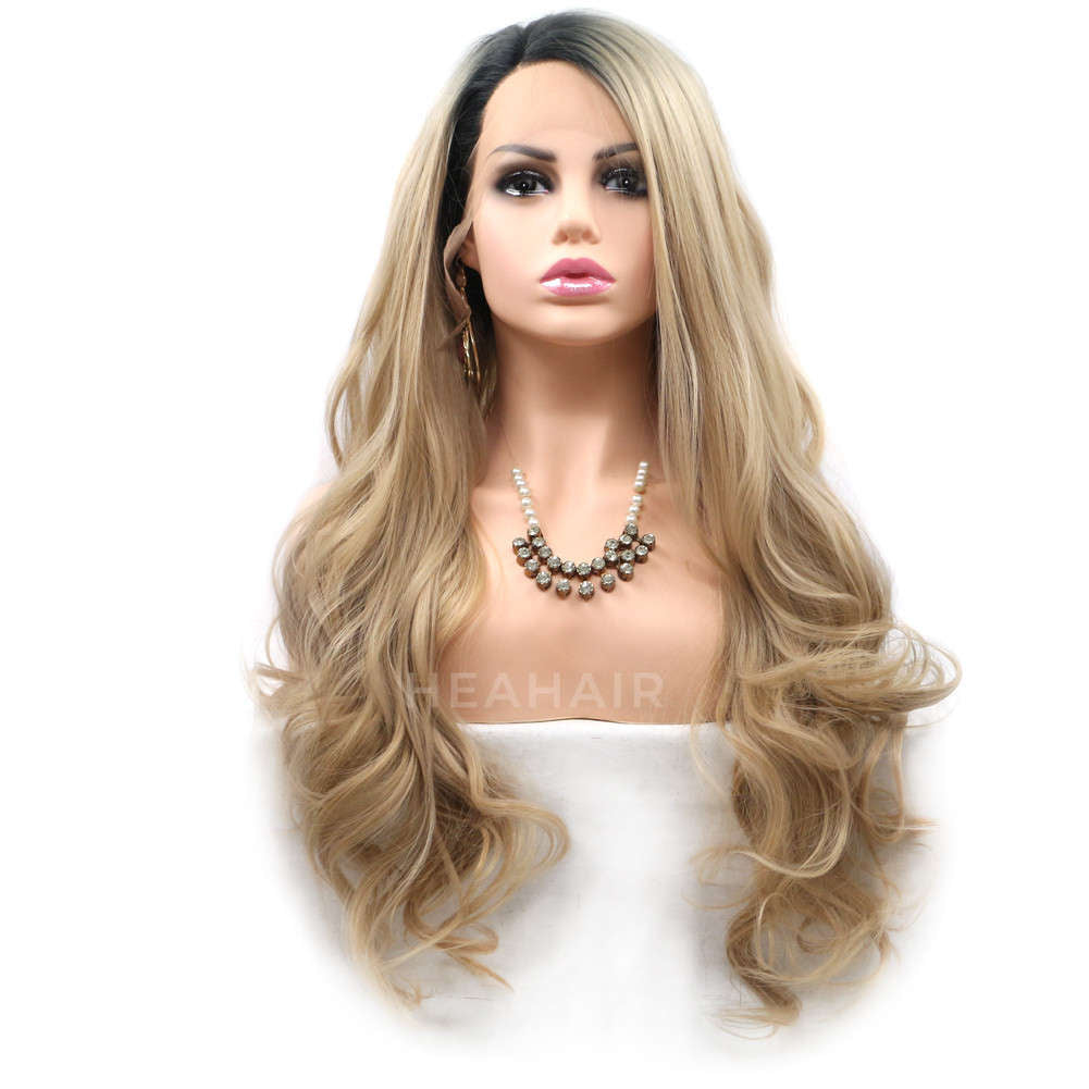 Ombre Blonde Synthetic Lace Front Wig HS6022