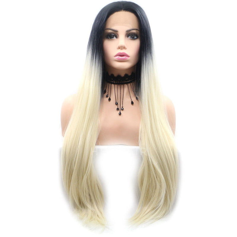 Ombre Blonde Synthetic Lace Front Wig HS6027
