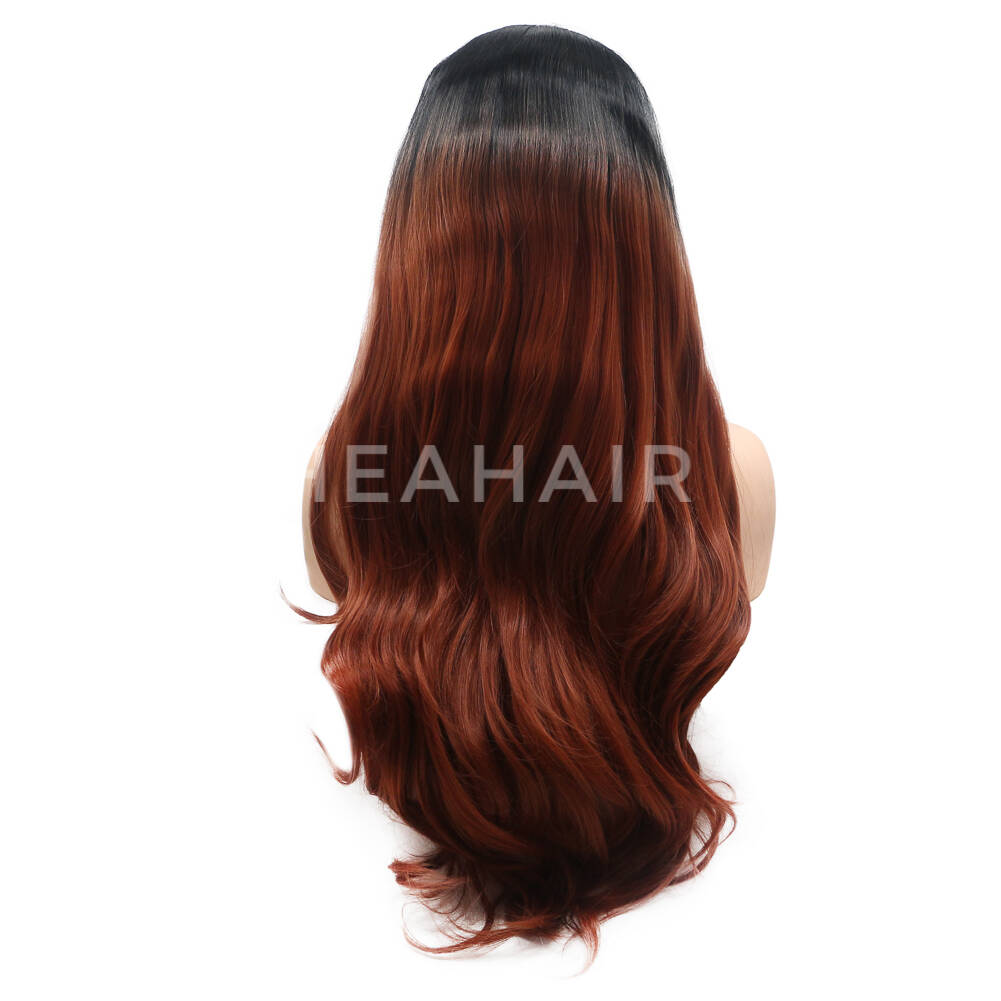Ombre Brown Synthetic Lace Front Wig HS6029