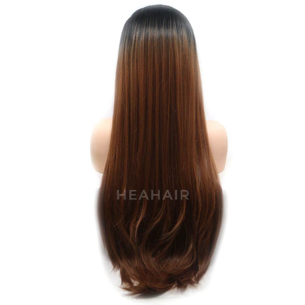 Ombre Brown Synthetic Lace Front Wig HS6030
