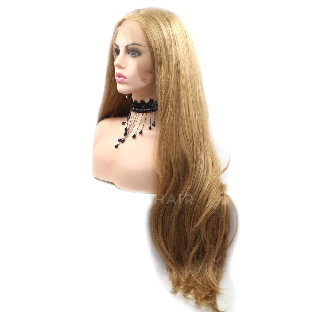 Light Brown Synthetic Lace Front Wig HS6031