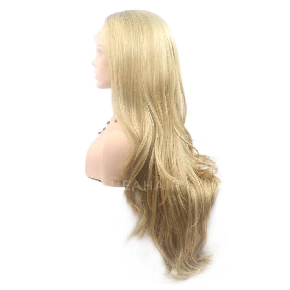 Ombre Blonde Synthetic Lace Front Wig HS6037