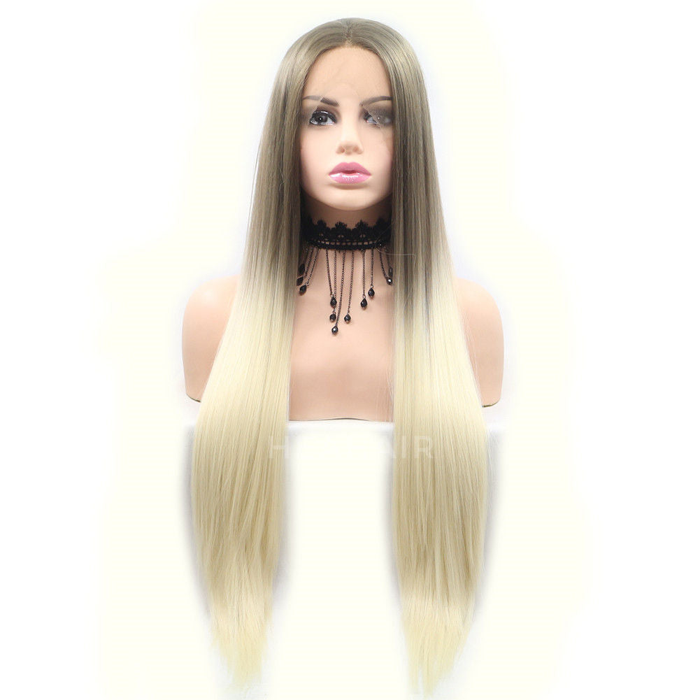 Ombre Blonde Synthetic Lace Front Wig HS6043