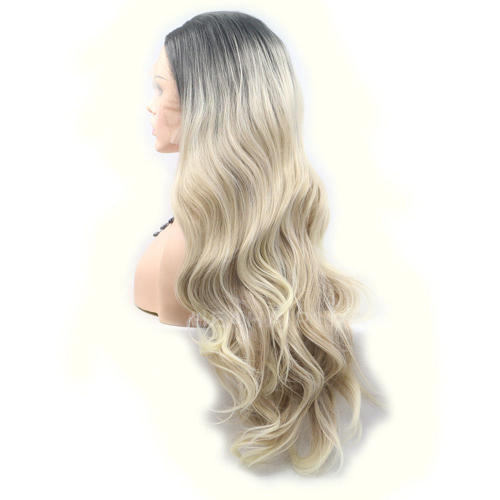 Ombre Blonde Synthetic Lace Front Wig HS6044