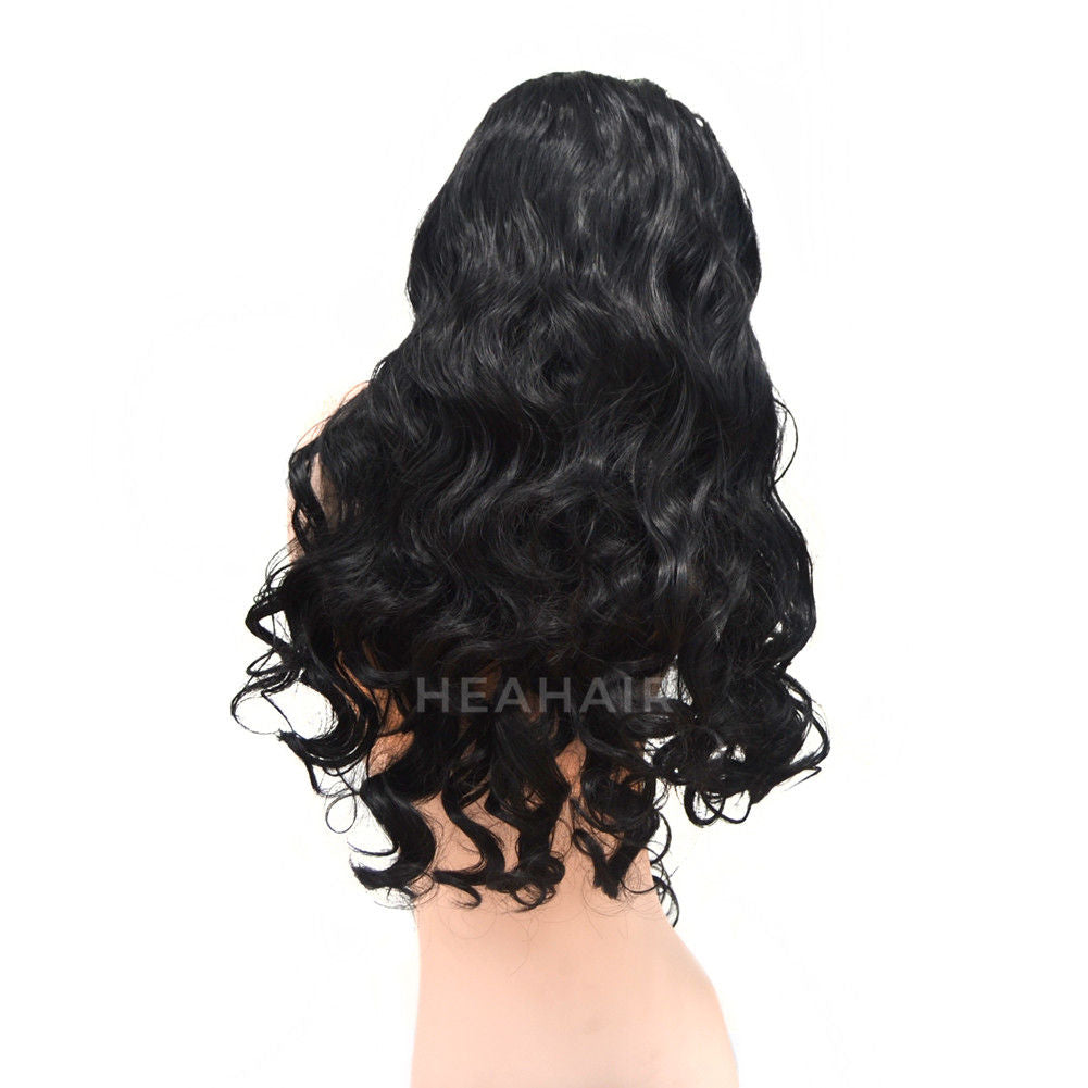 Black Wavy Synthetic Lace Front Wig HS6050