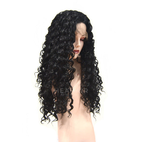 Kinky Curly Synthetic Lace Front Wig HS6051