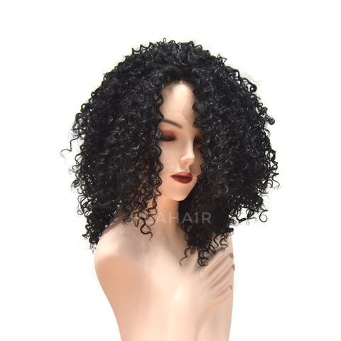 Bob Kinky Curly Synthetic Lace Front Wig HS6053