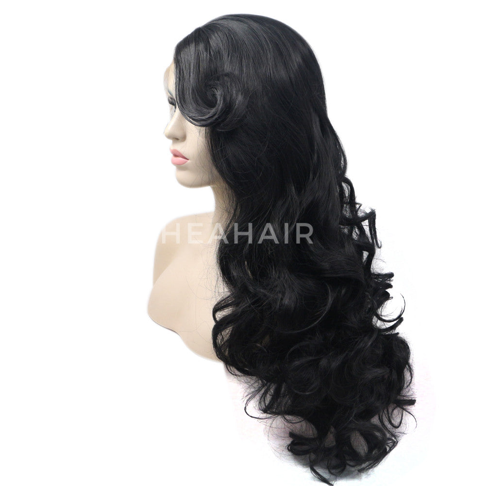Black Synthetic Lace Front Wig HS6061