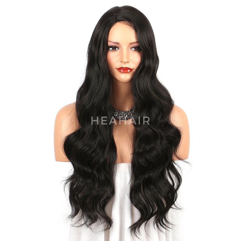 Black Wavy Synthetic Lace Front Wigs HS6063