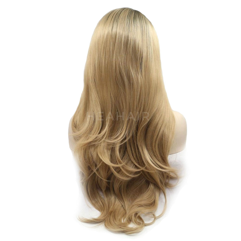 Ombre Blonde Synthetic Lace Front Wig HS6069