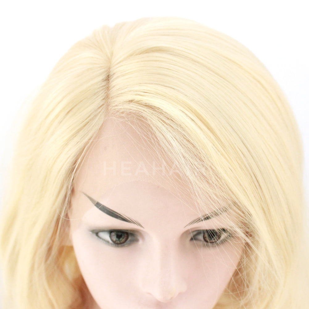Light Blonde BOB Synthetic Lace Front Wig HS6077