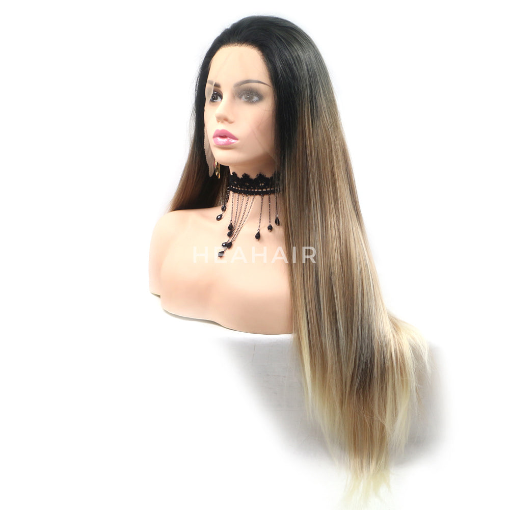 Ombre Brown Synthetic Lace Front Wig HS6081