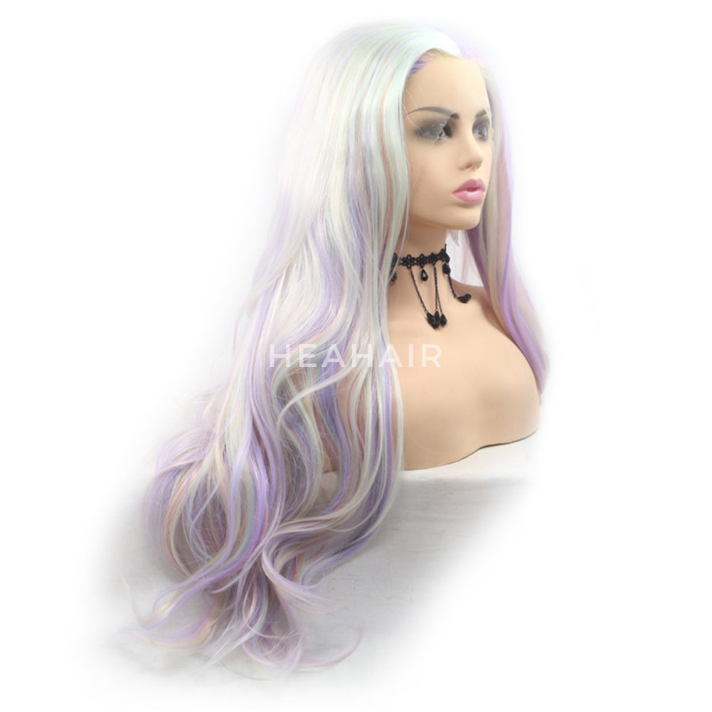 Multi Color Synthetic Lace Front Wigs HS6089
