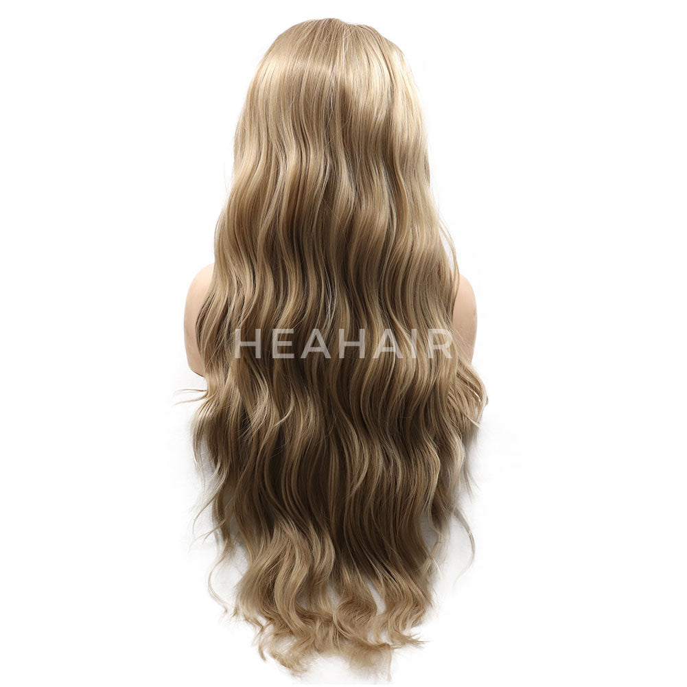 Blonde Wavy Synthetic Lace Front Wigs HS7044