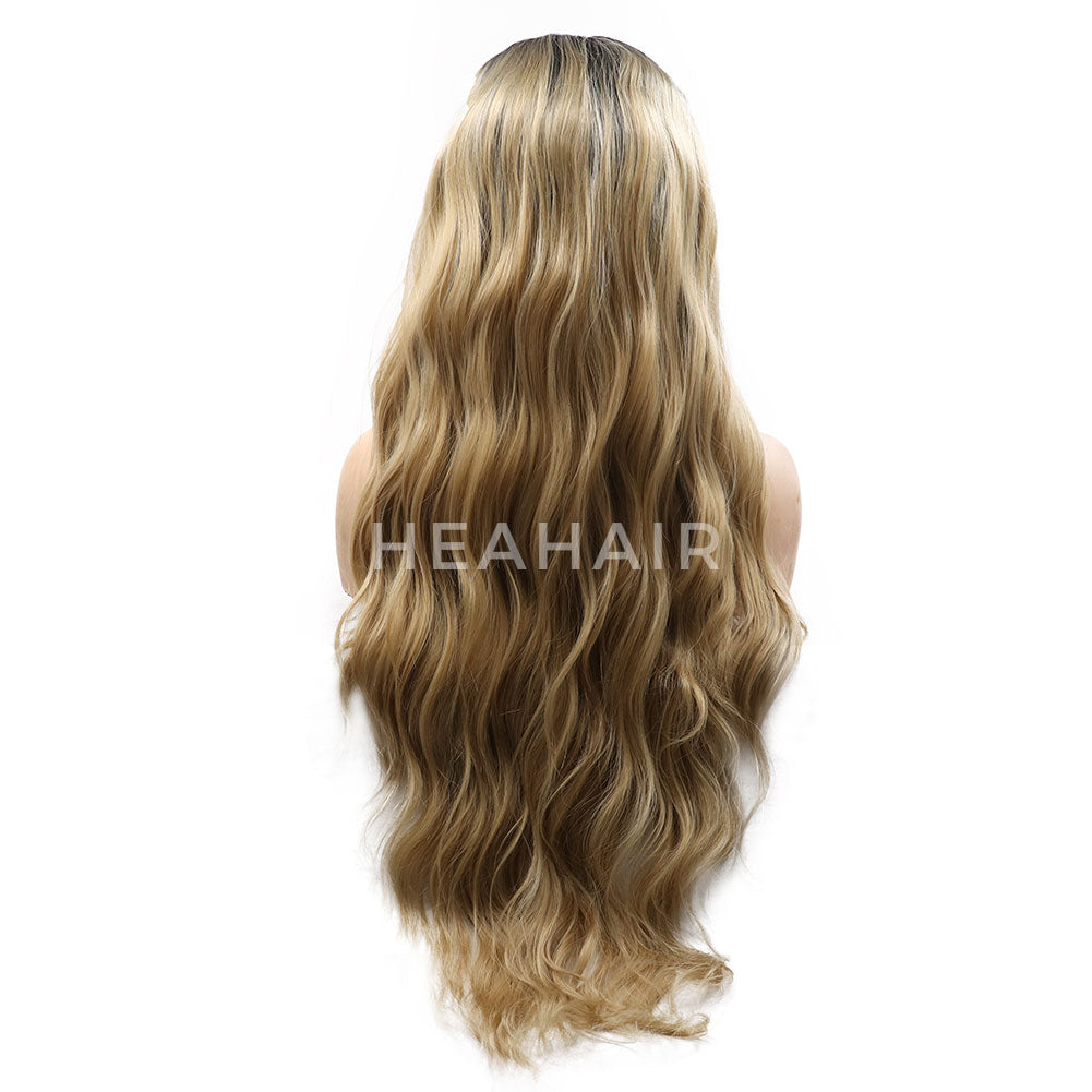 Ombre Blonde Synthetic Lace Front Wigs HS7045