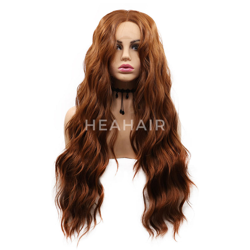 Brown Wavy Synthetic Lace Front Wigs HS7056