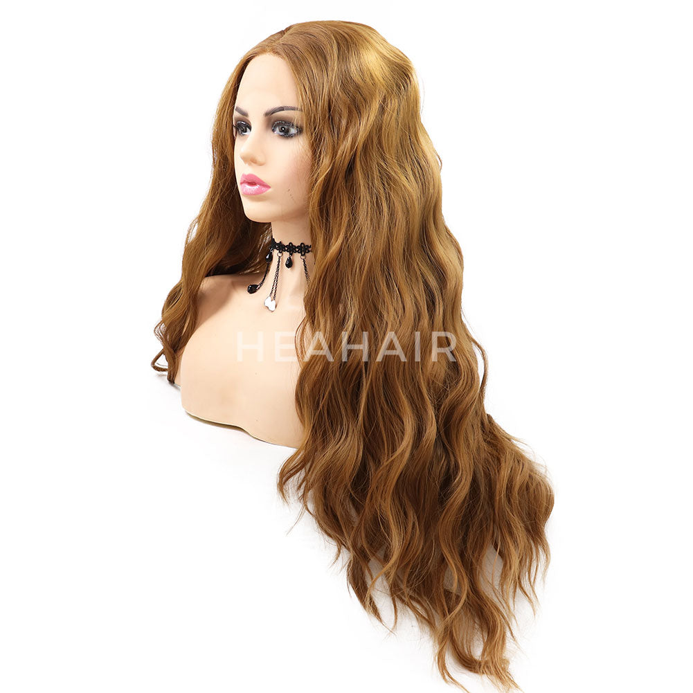 Blonde Wavy Synthetic Lace Front Wigs HS7057